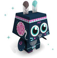 """Custom de paper toys pour le concours """"Pepetz"""" by MKT4"""