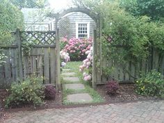Nantucket Town cottage rental - Charming entrance to your peaceful retreat and one off street parking space
