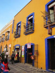 Colorful Buildings, Puebla, Mexico