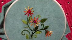Hand embroidery : bullion and lazy bullion stitch - YouTube