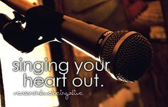 I LOVE singing. If it could get me to the music business, I'd be happy, if not, fine. I'll keep it as a hobby.