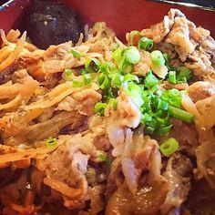 すき焼き重 #すき焼き重 #すき焼き #牛肉 #肉 #ご飯 #グルメ #日本 #sukiyaki #beaf #meat #rice #gourmet #japan