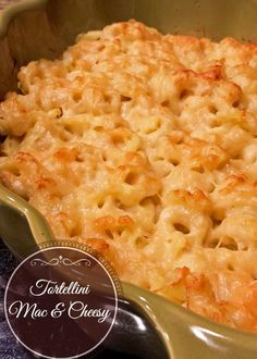 Tortellini Mac & Cheesy (for a day when I don't care about calories) I Love Food, Good Food, Yummy Food, Great Recipes, Dinner Recipes, Favorite Recipes, Pasta Dishes, Cheese Tortellini, Tortellini Recipes