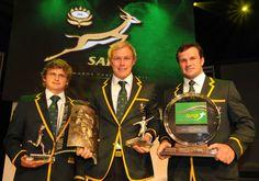 Pat Lambie, Schalk Burger and Bismarck du Plessis kind of awkward, but...