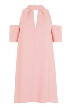 Were still loving the cold shoulder trend, seen here in the form of this super-cute pink dress with a funnel neck and cool keyhole detail to the front. Team with ankle boots and a leather jacket to add a dose of edge to the look. Keyhole Dress, Funnel Neck, Dress And Heels, Hair And Nails, Pink Dress, Asos, Topshop, Cold Shoulder Dress, Stuff To Buy