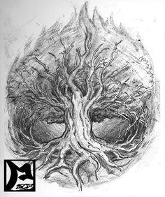 Tree Of Life Tattoo Sketch