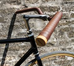 Leather handlebar tape