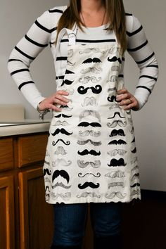 Your place to buy and sell all things handmade Alexander Henry Fabrics, Bbq Apron, Men And Women, Mustache, Aprons, Gift Ideas, Unisex, Female, Sewing