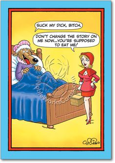 You'll love it... so funny! Little Red Riding Hood Funny Card