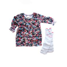 The Rosa tee! This lightweight knit top pairs great with solids and is perfect for mixing prints too! Its comfy, easy and your little will love it! Wear