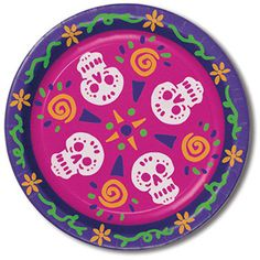 day of the dead plates Case of 12