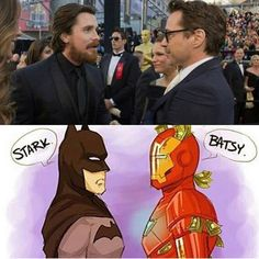 Would you rather be Batman or Iron Man?! #comicsandcoffee
