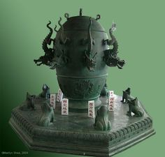 Zhang Heng, astronomer royal to the Han Dynasty, invented an accurate seismometer in AD 132. 1600 years before anyone in the West did.  The seismometer (候風地動儀 hòufēng dìdòng yí)  was an urn with some type of pendulum apparatus contained within it.