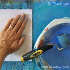 Mixed media art by Gill Tomlinson inspired by Greece and the Mediterranean - evoking the bright sun, deep blues and whitewashed walls of the Greek Islands. The Beautiful South, Summer Story, Vibrant Colors, Colours, Peeling Paint, My Art Studio, Large Canvas, Greek Islands, Medium Art