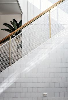 Everyday we share our stories and passions for home design and great architecture. Stair Handrail, Staircase Railings, Staircase Design, Staircases, Banisters, Tiled Staircase, Balustrade Design, Interior Stairs, Home Interior