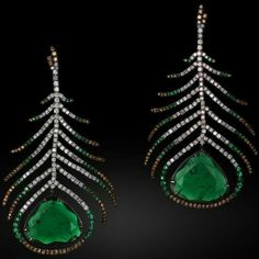 Michelle Ong emerald earrings