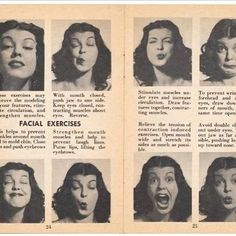 Tired of #Botox? Try this one! Facial Exercises from the olden days. You think this will work?? ;-) . . 📸: Unknown. Contact me for credits.