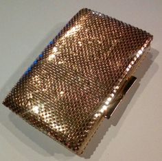 Rare beautiful vintage gold mesh Whiting & Davis clutch wallet in fantastic condition. This was my buy of the month at $4.00 (it was on a half price sale that day).