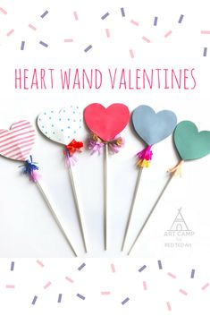 Heart Wand Kids' Valentines - cast a love spell this Valentine's Day with these cute Heart Wand Valentines! Instead of giving a card to your class mates, give them one of these darling and easy heart wand valentines! Valentines Day Cards Handmade, Valentines Day Decorations, Valentines Diy, Valentine's Day Crafts For Kids, Valentine Crafts For Kids, Kids Diy, Pattern Floral, Valentine's Cards For Kids, Valentine's Day Diy