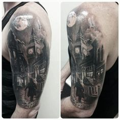 Trivia: do you know that Big Ben, in fact, is called Elizabeth tower? Yes, Big Ben is only the great bell inside of the clock tower. Big Ben Tattoo, Street Tattoo, City Tattoo, Gotik Tattoo, Big Ben London, London Tattoo, Victorian London, Geniale Tattoos, Creative Tattoos