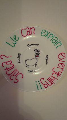 Personalised Santa cookie plate!!!