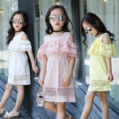$17.35 (Buy here: https://alitems.com/g/1e8d114494ebda23ff8b16525dc3e8/?i=5&ulp=https%3A%2F%2Fwww.aliexpress.com%2Fitem%2FNew-Arrival-2016-Girls-Summer-Lace-Princess-Dresses-Children-Off-Shoulder-Ruffles-Sleeve-Cotton-Dresses-Kids%2F32713790605.html ) New Arrival 2016 Girls Summer Lace Princess Dresses Children Off Shoulder Ruffles Sleeve Cotton Dresses Kids Party Dress for just $17.35