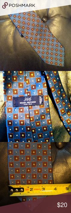 Brooks Brothers silk tie This is the neckwear of Presidents and CEO's. 100% pure silk. From a smoke free, pet free home. Brooks Brothers Accessories Ties