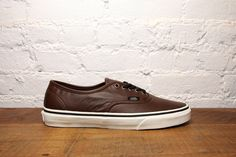 groomsmen shoes - Vans Classic Authentic Aged Leather