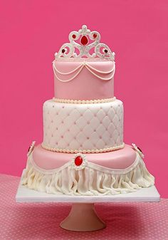 princess cake - * three tiers, white chocolate mud cake with cream for a  little orinces