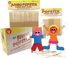Popstix! Use them for building, puzzles, people, even math lessons. And now, you can save 20% on these and our other fantastic crafts products! Today and tomorrow only, get great savings on all Hygloss products. www.hyglossproducts.com