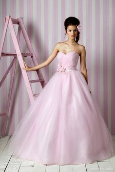 pink wedding dress 2012
