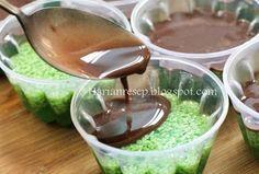 Resep Puding Lumut Pandan Hijau Lapis Coklat Enak Dan Gurih Banget Puding Makanan Minuman