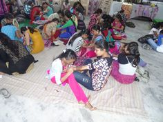 Inter Class Mehndi Competition At amroli college 20-07-2016