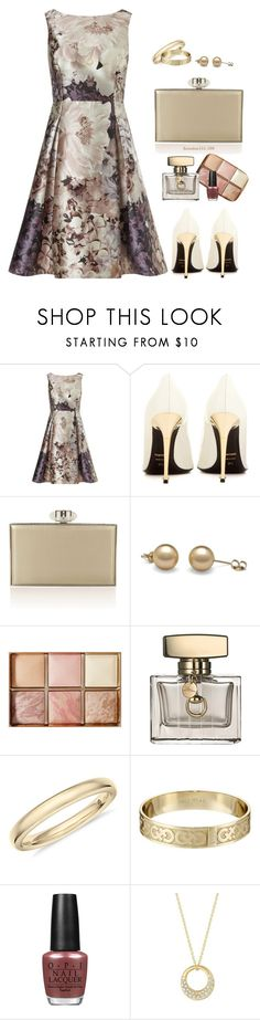 """""""July Weddings Again!"""" by houston555-396 ❤ liked on Polyvore featuring Phase Eight, Tom Ford, Judith Leiber, Hourglass Cosmetics, Gucci, Cole Haan, OPI and Carelle"""