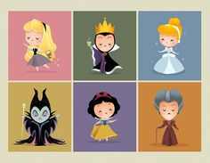 Jerrod Maruyama, Disney pincesses and the evil queens, principesse Disney con le regine cattive