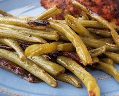 Green Beans on the Grill Grilling Recipes, Vegetable Recipes, Cooking Recipes, Healthy Recipes, Grilling Tips, Cooking Ribs, Fruit Recipes, Vegetable Dishes, Cooking Ideas
