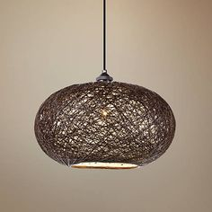 "Maxim Bali 15 3/4"" Wide Chocolate Weave Pendant Light - #9R888   Lamps Plus"