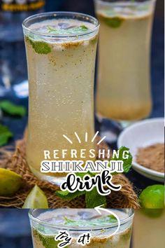 Refreshing Drinks, Summer Drinks, Indian Food Recipes, Asian Recipes, Watermelon Mojito, Indian Drinks, Lemon Drink, Chaat Masala, Cardamom Powder