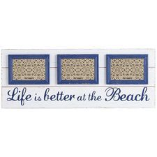 Ahhh, the beach. Keep its cool waters and sandy shores on your mind with our sentimental frame. Crafted of wooden planks, slightly distressed and hand-painted, it will hold three of your favorite beachside memories. Beach Picture Frames, Picture Frame Sizes, Collage Picture Frames, Collage Photo, Frame Wall Decor, Frames On Wall, Wall Art Decor, Room Decor, San Diego Living
