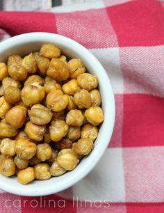 Garbanzos crujientes: Snack saludable para niños | carolinallinas