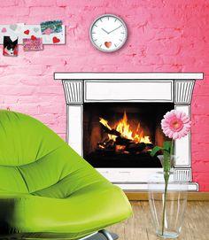 Fireplace Wallsticker