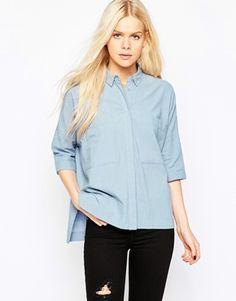 ASOS Casual Oversize Pocket Shirt