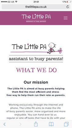 Check out the little PA! 🍭👨‍👩‍👧‍👦 http://Www.thelittlepa.co.uk