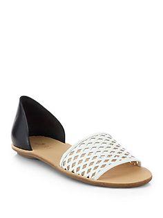 Loeffler Randall Sawyer Bicolor Leather Sandals