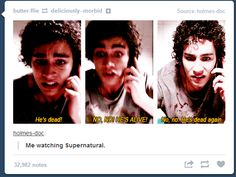 Me watching Supernatural, haha so true!<-- Or Sherlock. Or Doctor Who. Castiel, Mark Sheppard, Sam Dean, Jared Padalecki, Sam Winchester, Misha Collins, Jensen Ackles, Nathan Misfits, Sherlock