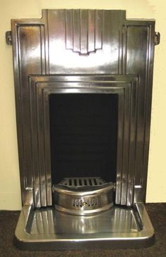 Art Deco metal fireplace