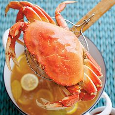 Simple Boiled Crabs with Garlic-Vermouth Butter - 37 Mouth-Watering Crab Recipes - Coastal Living