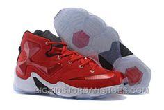f8c2c7116b52 2016 Nike Kids Basketball Sneakers Lebron 13 Red White Black Hot