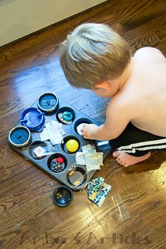 Click. Pray. Love: Pre-Toddler Activity #7: Muffin Pan Surprise