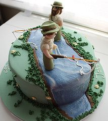 fly fishing cake